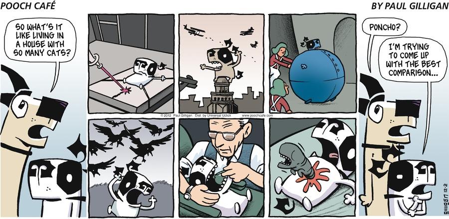 Pooch Cafe for Dec 2, 2012 Comic Strip