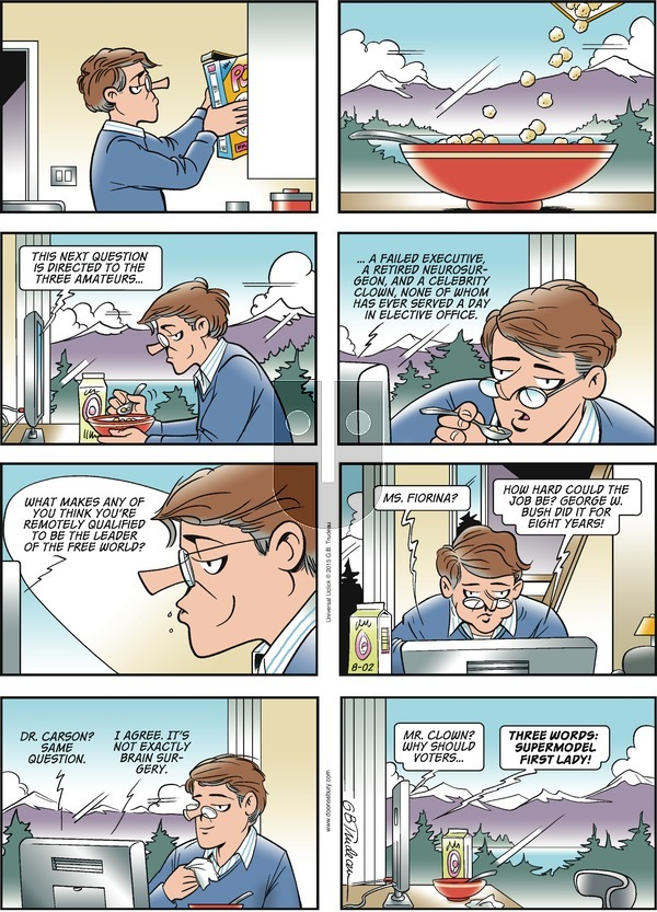 Doonesbury on Sunday August 2, 2015 Comic Strip
