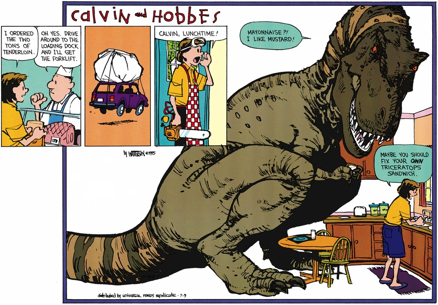 Calvin and Hobbes Comic Strip for July 09, 1995