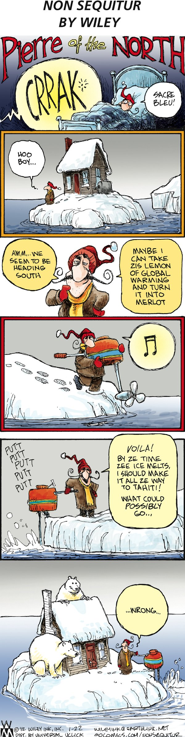 Non Sequitur Comic Strip for January 22, 2012