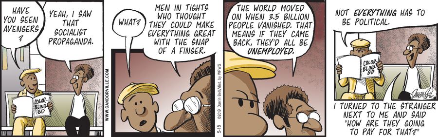 Candorville by Darrin Bell for May 18, 2019