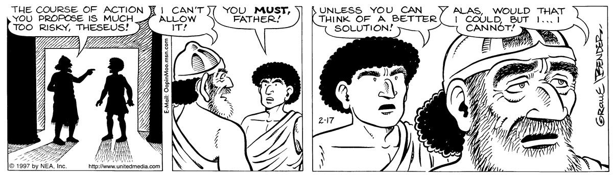 Alley Oop for Feb 17, 1997 Comic Strip