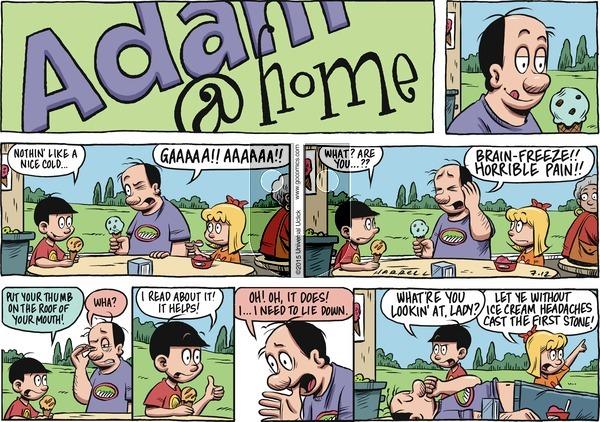 Adam@Home on Sunday July 12, 2015 Comic Strip