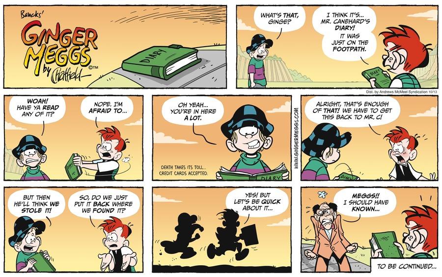Ginger Meggs Comic Strip for October 13, 2019