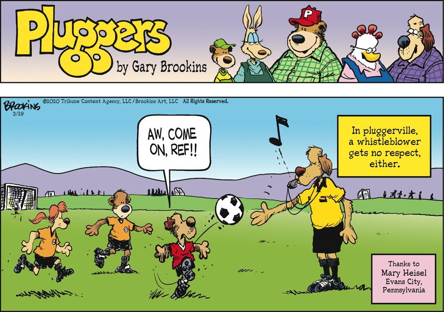 Pluggers Comic Strip for March 29, 2020