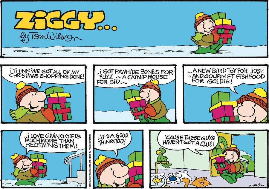 Ziggy Comic Strip for December 15, 2019