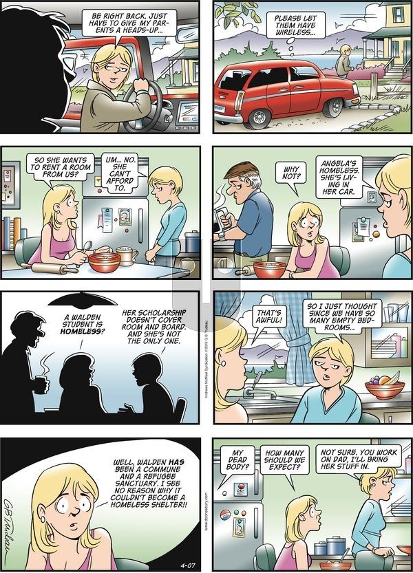 Doonesbury - Sunday April 7, 2019 Comic Strip