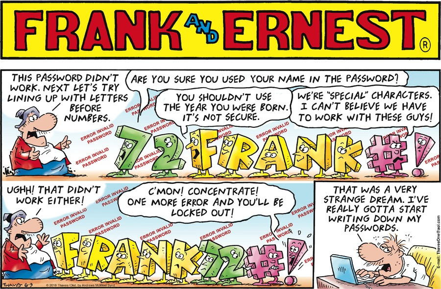 Frank and Ernest Comic Strip for June 03, 2018
