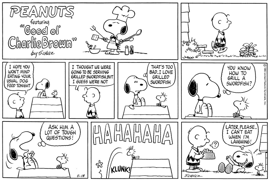 Peanuts for May 18, 1980 Comic Strip