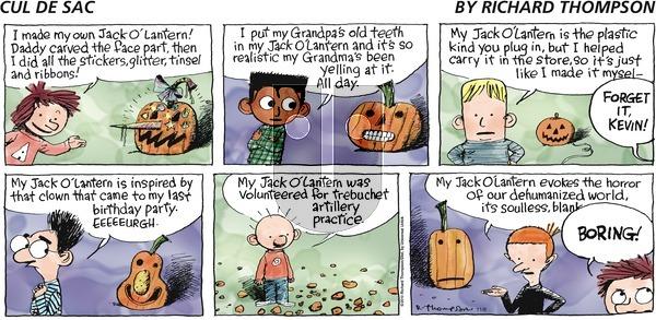 Cul de Sac on Sunday November 8, 2015 Comic Strip