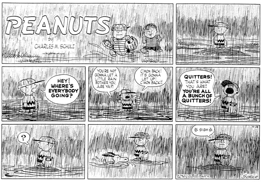Peanuts Comic Strip for April 28, 1957