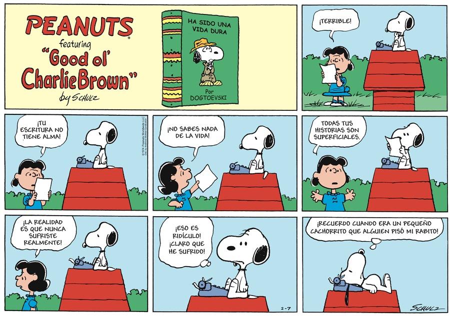 Snoopy en Español Comic Strip for February 07, 2021