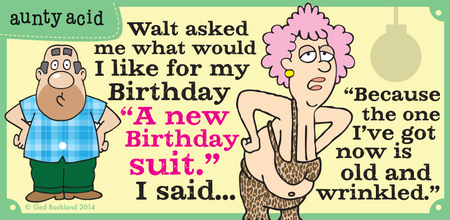 Aunty Acid Comic Strip for March 29, 2014