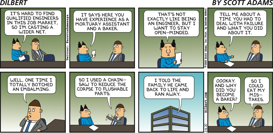 Finding Qualified Engineers - Dilbert by Scott Adams