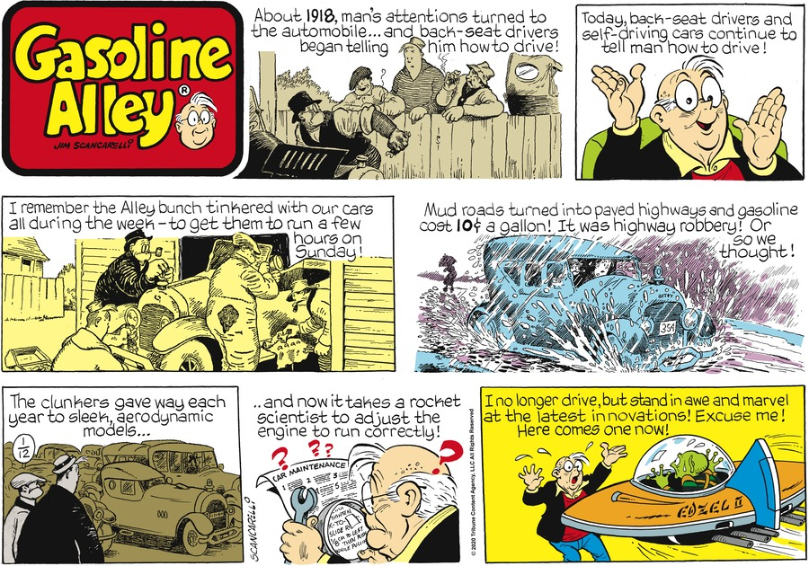 Gasoline Alley Comic Strip for January 12, 2020