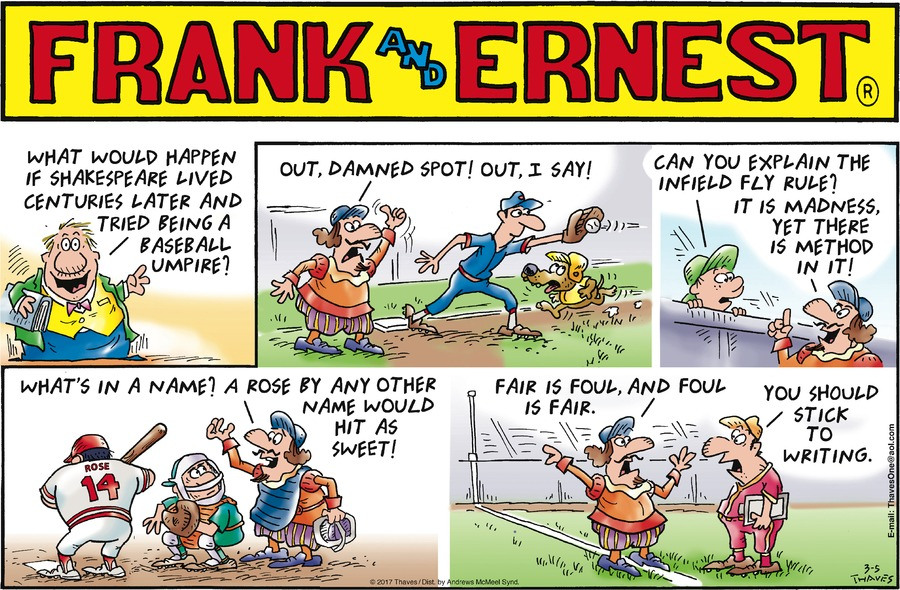 Frank and Ernest Comic Strip for March 05, 2017