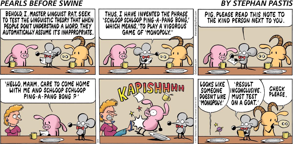 Pearls Before Swine Comic Strip for September 11, 2011