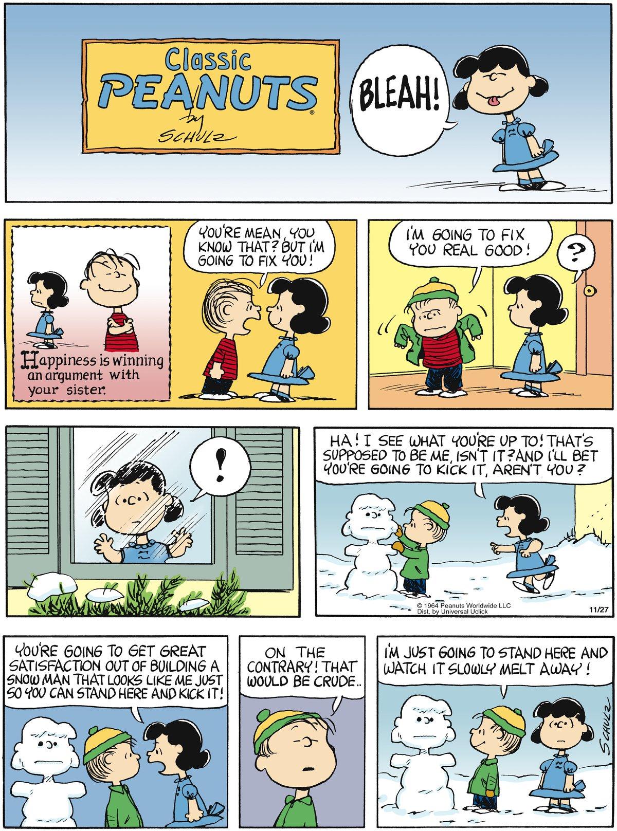 Peanuts for Nov 27, 2011 Comic Strip