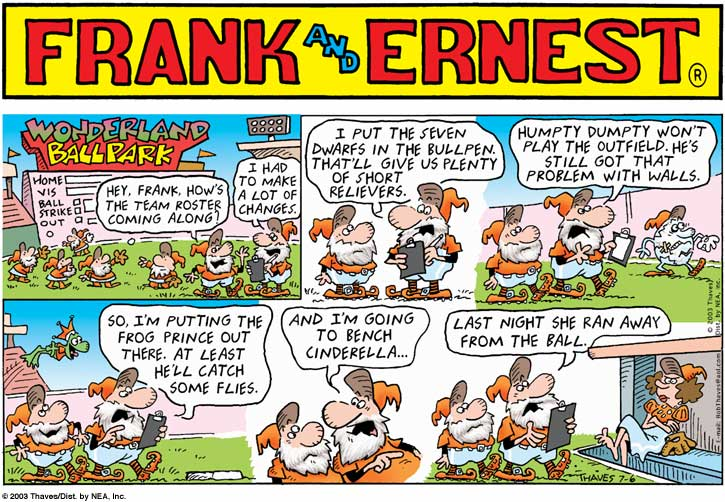 Frank and Ernest Comic Strip for July 06, 2003
