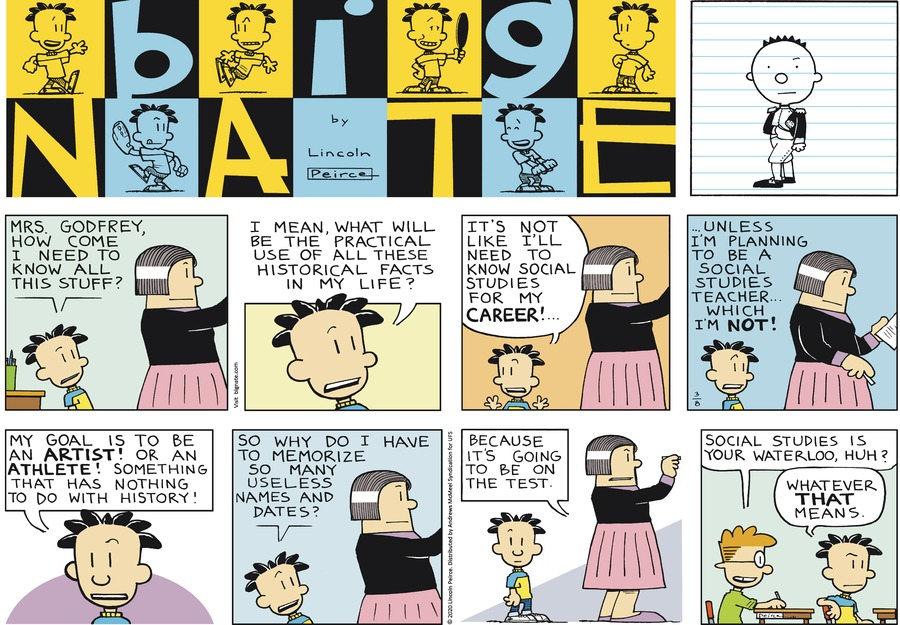 Big Nate Comic Strip for March 08, 2020