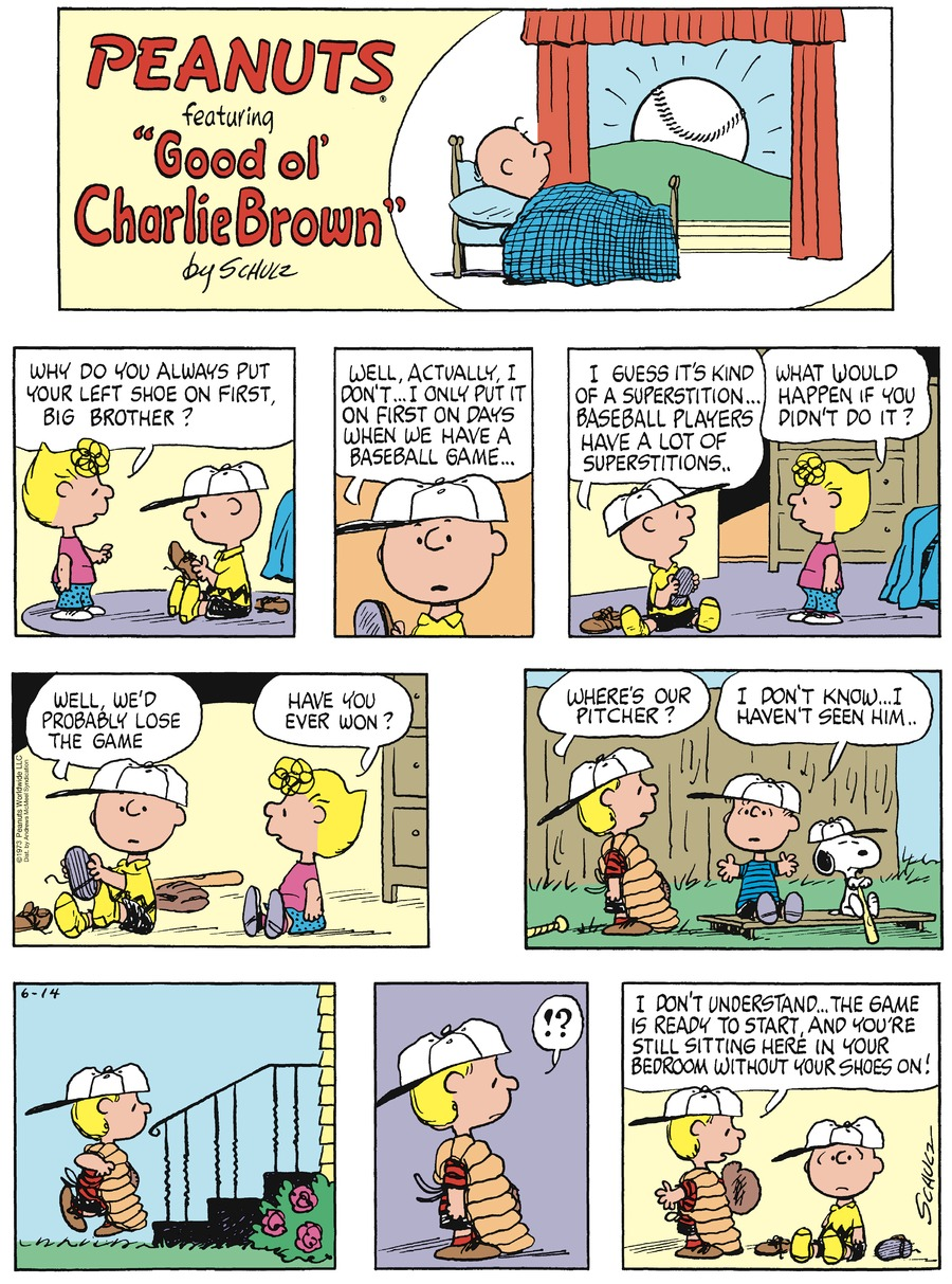 Peanuts by Charles Schulz on Sun, 14 Jun 2020