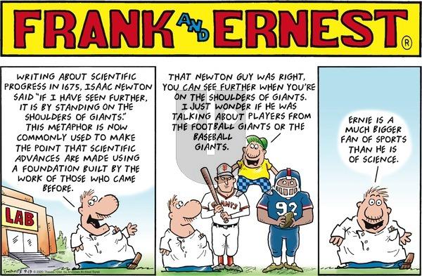 Frank and Ernest on Sunday September 13, 2020 Comic Strip