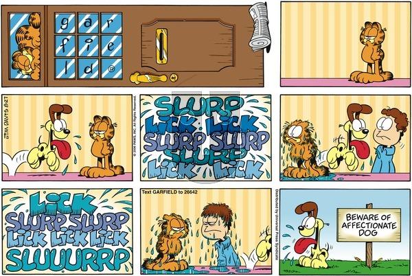 Garfield on Sunday August 27, 2006 Comic Strip