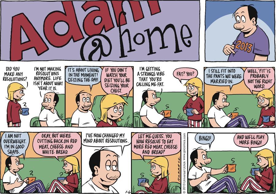 Adam@Home Comic Strip for January 06, 2013