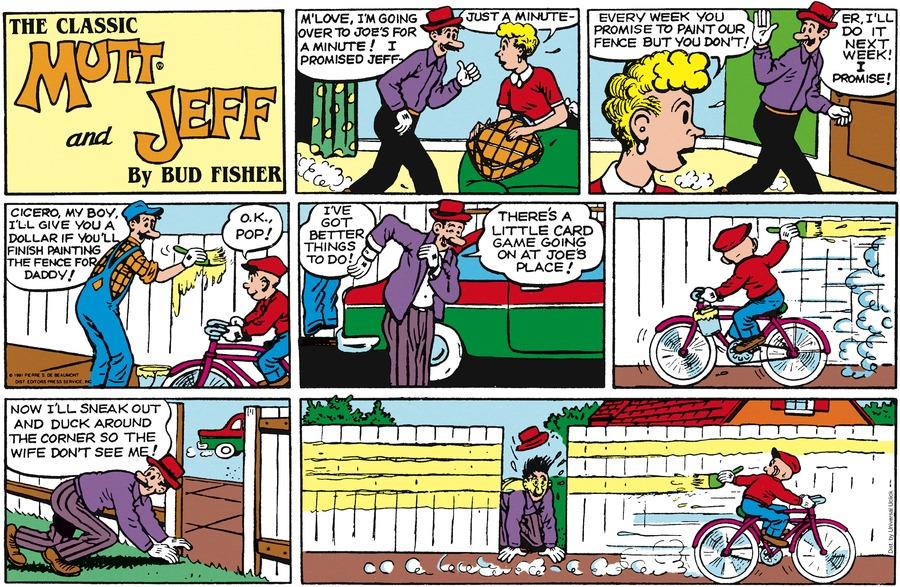 Mutt & Jeff Comic Strip for February 22, 2015