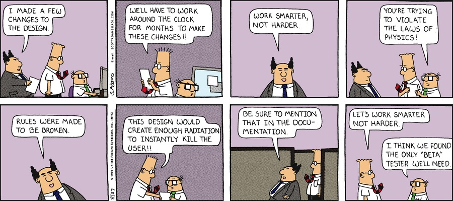Dilbert Classics by Scott Adams for September 09, 2018