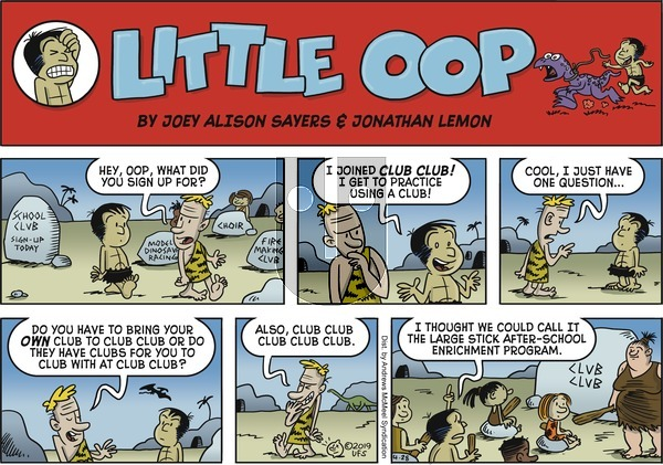 Alley Oop on Sunday April 28, 2019 Comic Strip