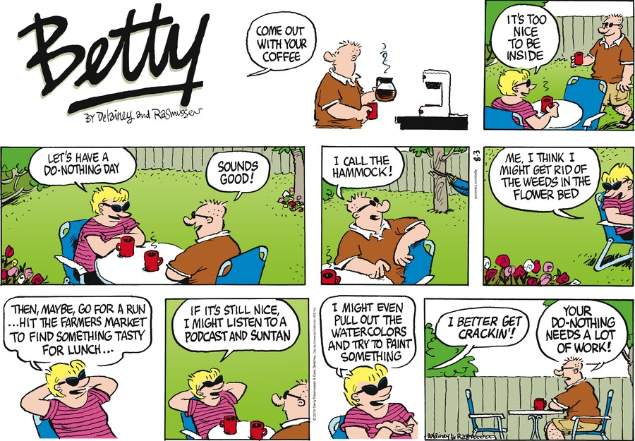 Betty for Aug 3, 2014 Comic Strip