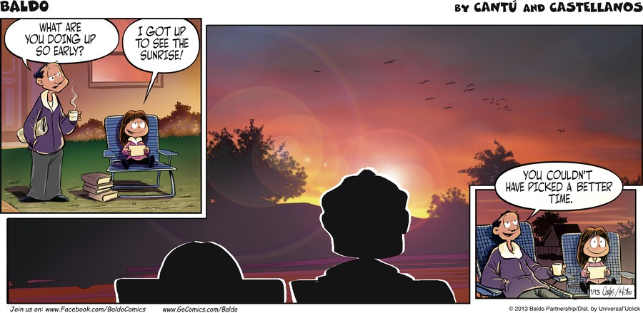 Baldo for Jan 13, 2013 Comic Strip