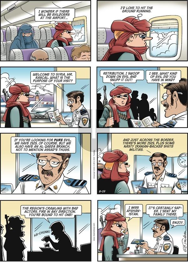 Doonesbury on Sunday August 9, 2015 Comic Strip