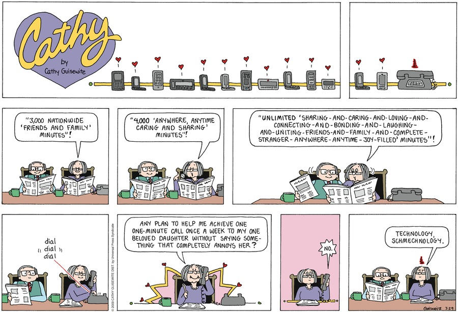 Cathy Classics Comic Strip for March 29, 2020