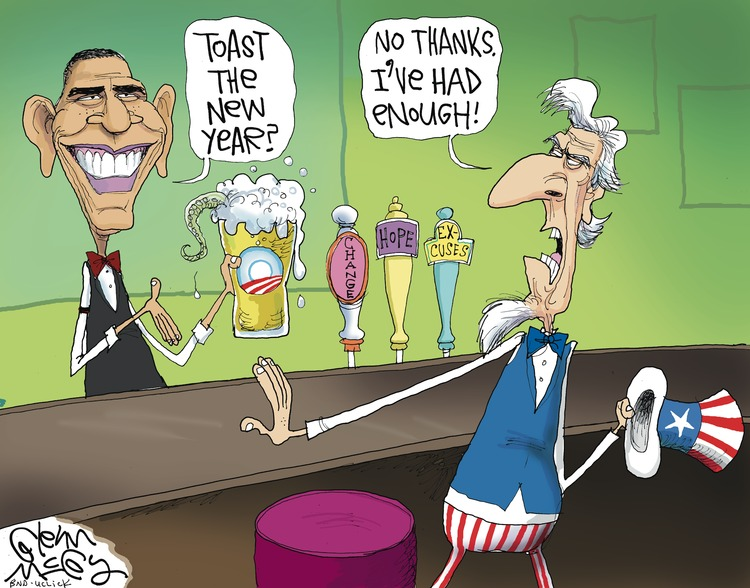 Barack Obama: Toast the New Year?