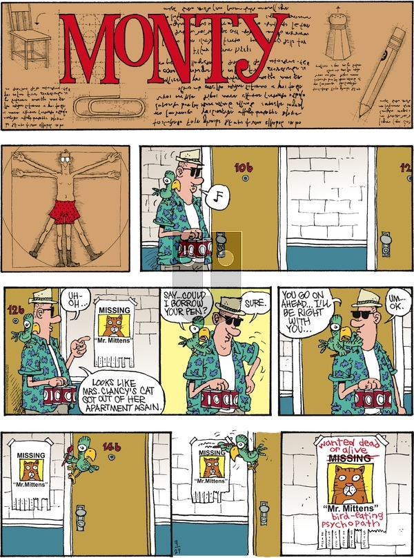 Monty on Sunday September 29, 2019 Comic Strip