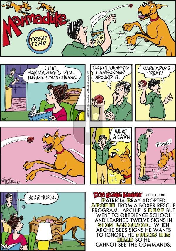 Marmaduke on July 15, 2018 Comic Strip