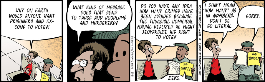 Candorville by Darrin Bell for May 17, 2019