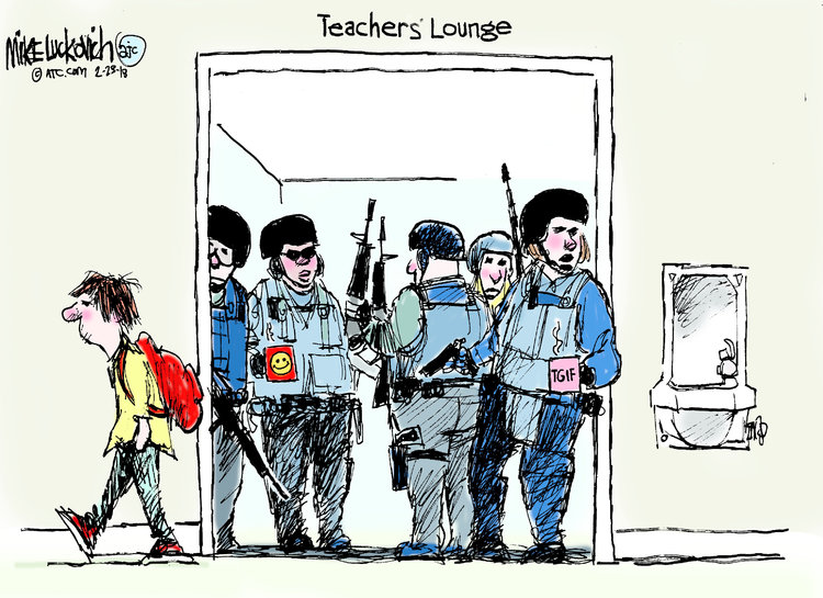 Mike Luckovich for Feb 23, 2018 Comic Strip
