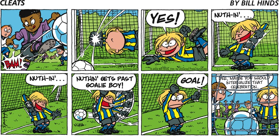 Cleats Comic Strip for January 13, 2002