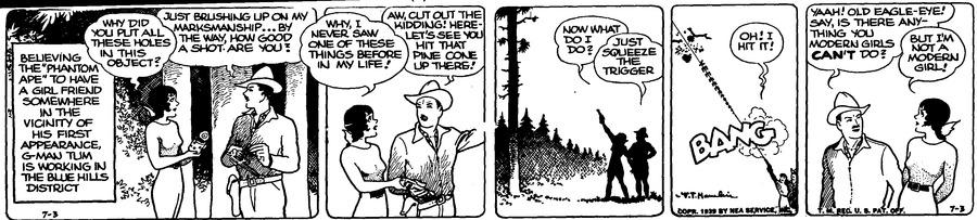 Alley Oop Comic Strip for July 03, 1939