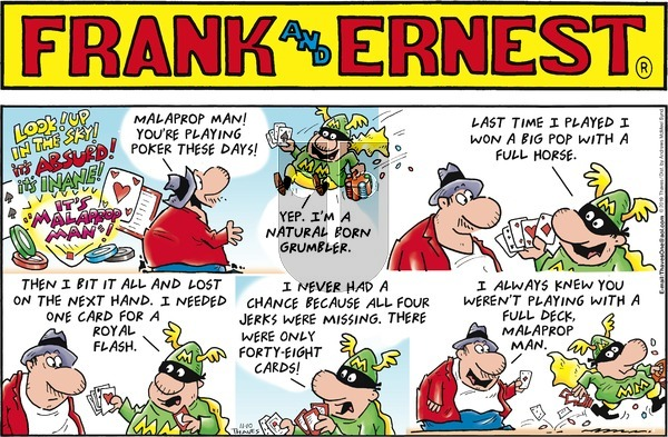 Frank and Ernest on Sunday November 10, 2019 Comic Strip