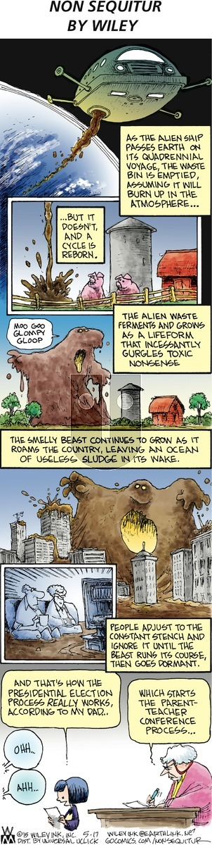 Non Sequitur - Sunday May 17, 2015 Comic Strip
