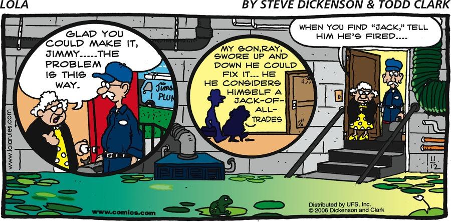 Lola Comic Strip for November 12, 2006