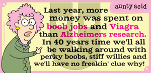 Aunty Acid on Wednesday April 2, 2014 Comic Strip