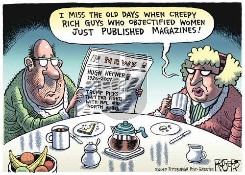 Rob Rogers on Sunday October 1, 2017 Comic Strip