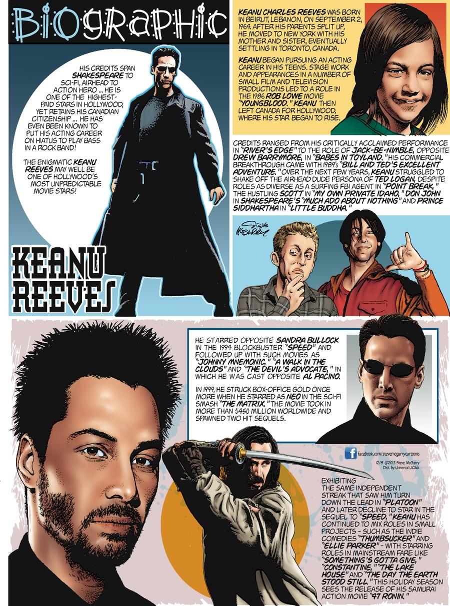 Biographic for Dec 8, 2013 Comic Strip