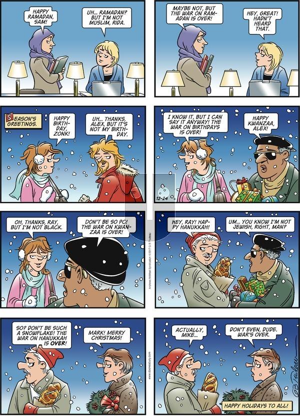 Doonesbury on Sunday December 24, 2017 Comic Strip