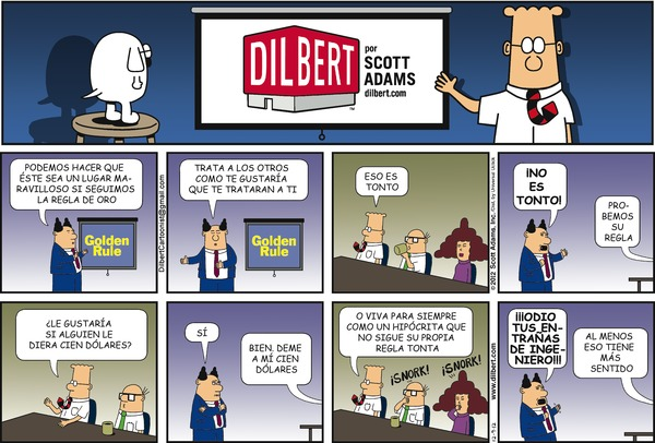 Collectible Print of dilbert en espanol
